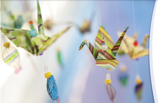 Origami crane display honors Childhood Cancer Awareness Month
