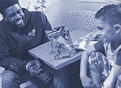 UF student-athletes visit young patients