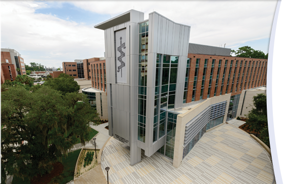 The George T. Harrell, M.D., Medical Education Building opens its doors