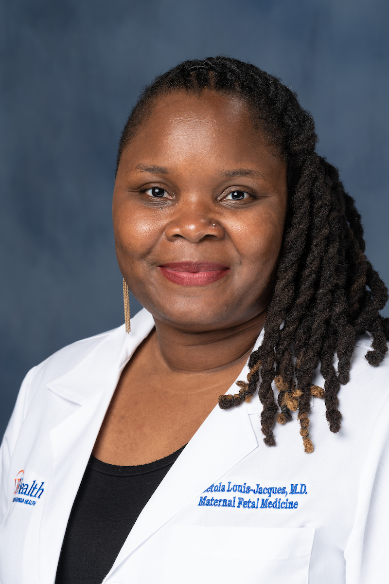 Adetola Louis-Jacques, M.D. who joined the University of Florida faculty in July as a clinical assistant professor in the department of obstetrics and gynecology