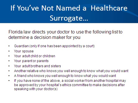 Healthcare Surrogate Decision List