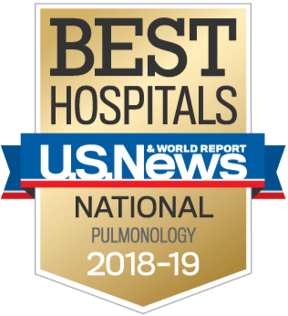 Us News and report National Badge - pulmonology