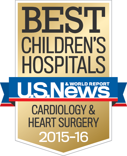 US News & World Report Best Children's Hospital Badge - Cardiology & Heart Surgery