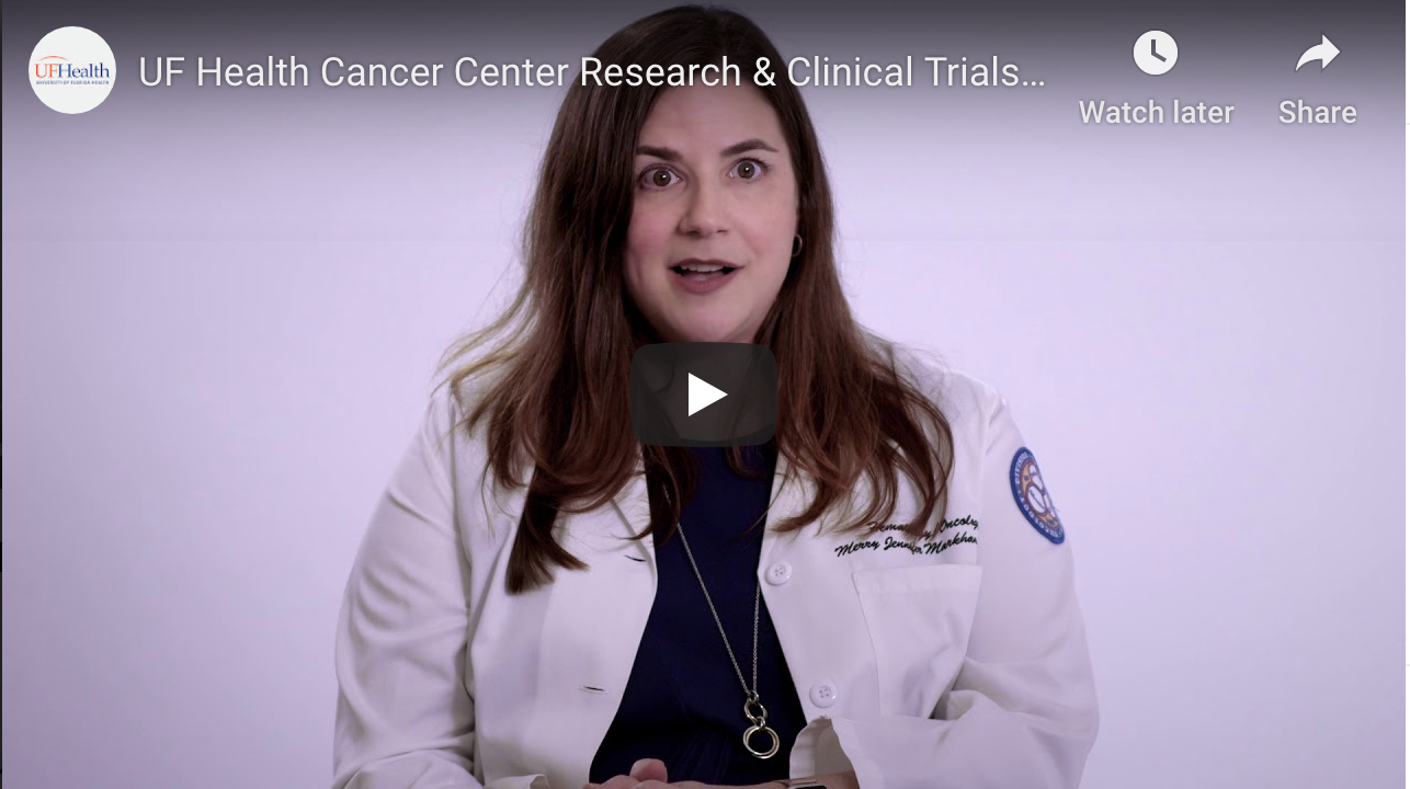 Video on University of Florida Health research and clinical patient trials