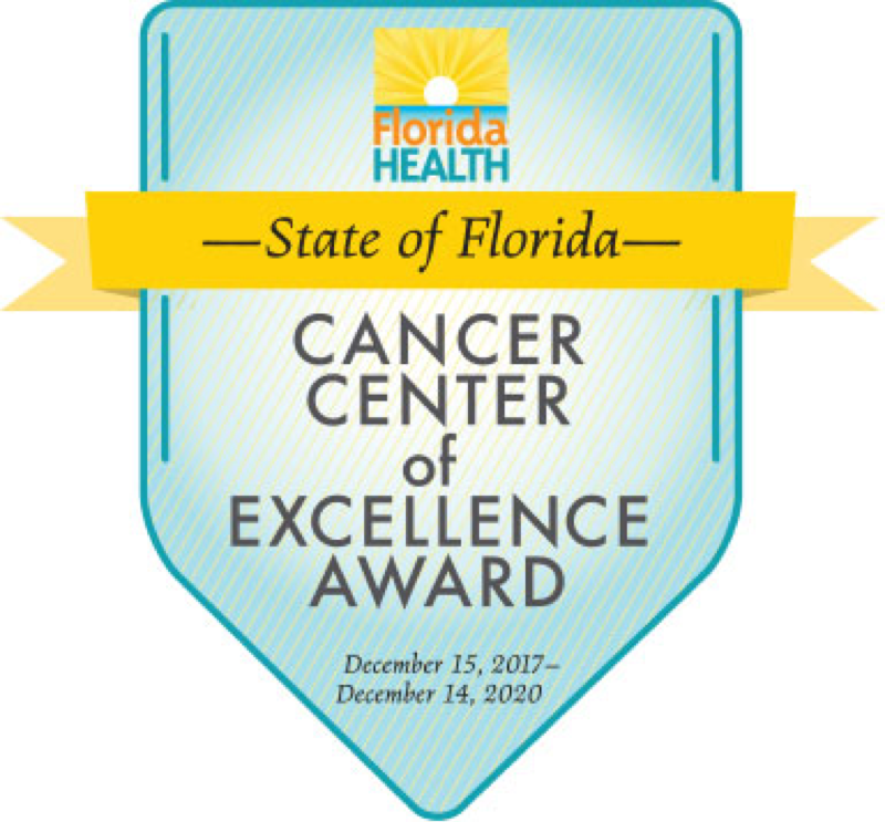 State of Florida Cancer Center of Excellence Badge