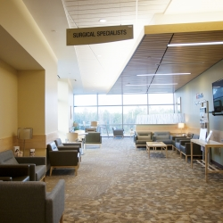 Lobby of UF Health Surgical Specialists at Springhill
