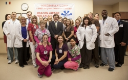 The staff of the 4 East SICU at the Shands Cancer Hospital.
