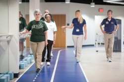 Older adults complete walking exercises at the University of Florida as part of the UF-led LIFE study. The study, which will be released May 27, examined how physical activity affects the mobility of adults aged 70-89.