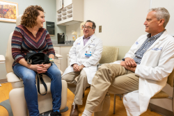 Terri got to know two of her surgeons, Kenneth Andreoni, M.D., center, and Mark Johnson, M.D., before the procedure.