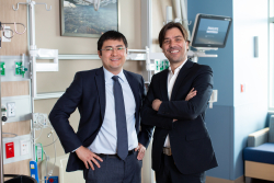 Tiago Machucha, M.D., left, and Andres Pelaez, M.D., say having a multidisciplinary team available in one location will help patients recover faster from procedures. Photo Credit: Mindy Miller