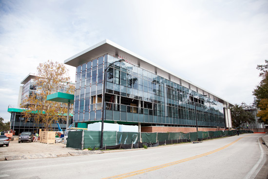 The Clinical Translational Research Building under construction.