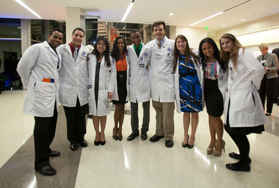 Pharmacy students at the new Lake Nona campus.
