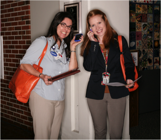 Marilee Griffin and Rossana Passaniti of UF and Shands Communications