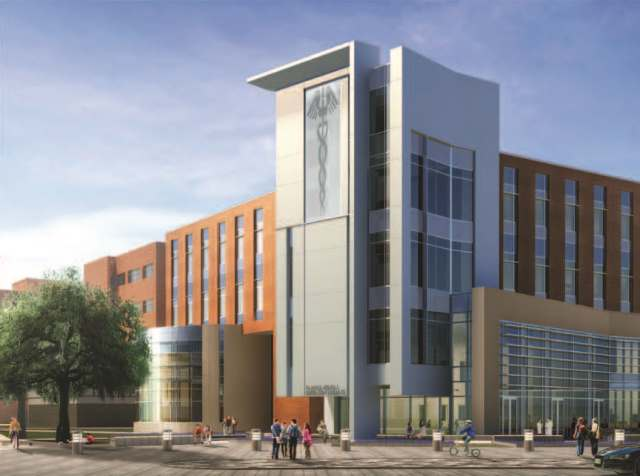 Sketch of new Medical Education Building