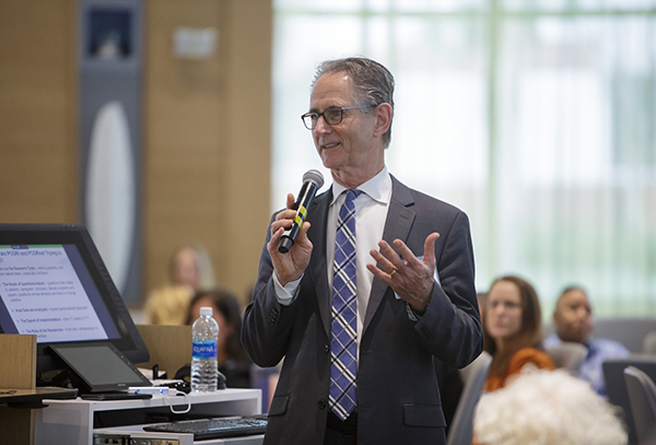 Joe Selby, executive director of the Patient-Centered Outcomes Research Institute, speaks at the OneFlorida Clinical Research Consortium's 2017 Annual Stakeholder Meeting.