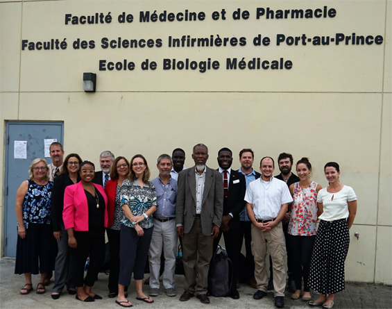 Faculty members from UF/EPI traveled to Port-au-Prince with UF students to attend the inaugural Water Summit at the State University of Haiti School of Medicine and Pharmacy.