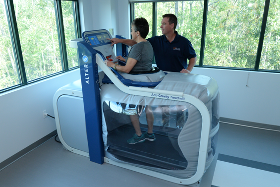 The two new therapy gyms are equipped with some of the latest rehabilitation technology available today.