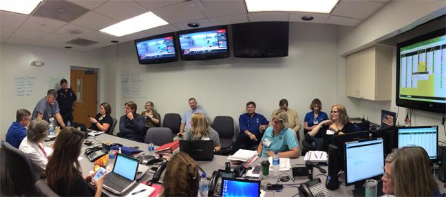 Hurricane Irma Command Center - UF Health Shands