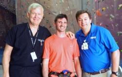 Stephen France (center) will compete this season on American Ninja Warrior