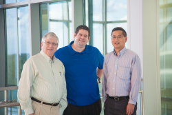 """George Drusano, M.D., Jürgen Bulitta, Ph.D., and Arnold Louie, M.D., are leading UF Heath's efforts to attack a deadly bacterial """"superbug"""""""