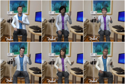 Using the VHA intervention, patients interact with a diverse group of virtual doctors in a digital replica of a UF Health exam room.