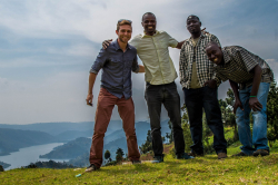 UF graduate student Nick Dowhaniuk, left, has returned to Uganda to help residents improve their community's health.