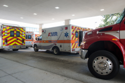 Patients from damaged Panhandle hospitals began arriving at UF Health Shands Hospital Thursday afternoon.
