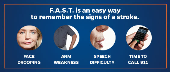 Know the signs of a stroke - face drooping, arm weakness, speech difficulty - time to call 911