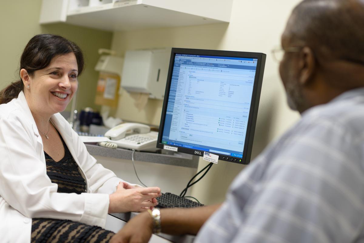 Dr. Khanna & patient.
