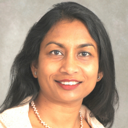 Sumita Bhaduri-McIntosh, M.D., Ph.D., is chief of pediatric infectious diseases in the UF College of Medicine's department of pediatrics and an associate professor in the departments of pediatrics and molecular genetics and microbiology.