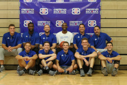 Corey Brewer and camp staff
