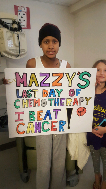 Mazzy Jester is your typical 12-year-old. She likes hanging out with friends, being silly with her sister and playing with her dogs. When she grows up, she wants to be a fashion designer. But on Sept. 7, her dreams almost unraveled when she felt a mass in her collar bone.
