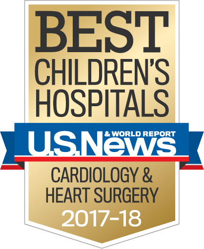U.S. News & World Report Best Children's Hospital Badge in Cardiology & Heart Surgery