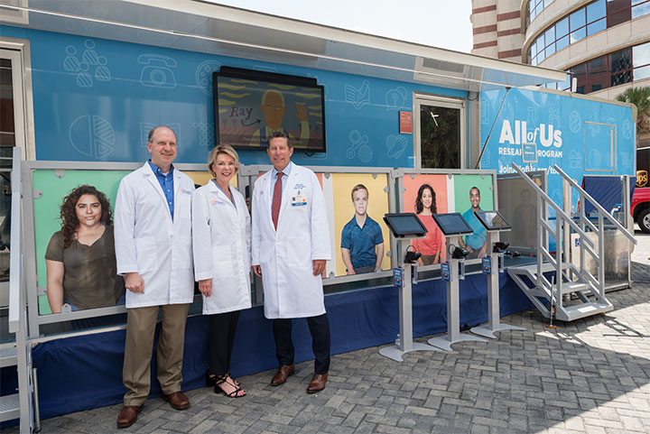 cb4ab378672 The All of Us Journey bus was featured at UF Health last fall. The hands