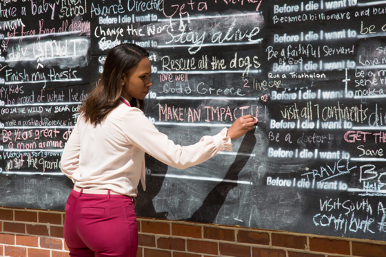 8de37715a071 Before I Die chalk wall