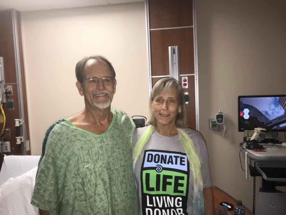 Dave and Sandy together in the hospital.