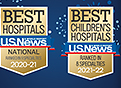 US News and World Report Best Hospitals and Best Children's Hospital Badges