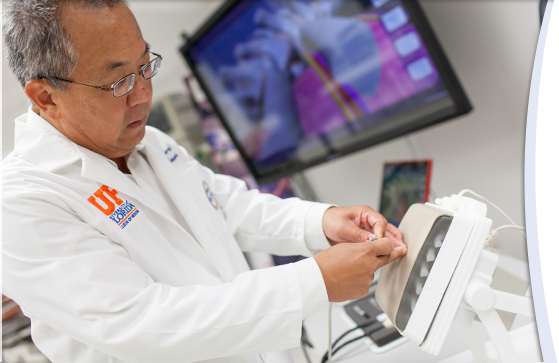 "Samsun ""Sem"" Lampotang, Ph.D., a professor of anesthesiology in the UF College of Medicine and director of the UF Center for Safety, Simulation & Advanced Learning Technologies."