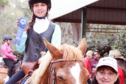 Alexia McCue on her horse