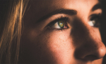 Close-up of a woman's eyes