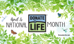 Graphic that says April is Donate Life Monthwql,jn