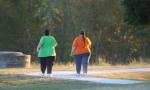overweight women walking