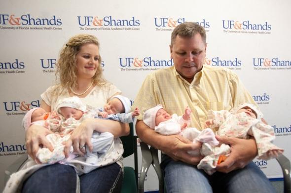 Quintuplets go home -  Teamwork at UF&Shands ensures a healthy start for five infants