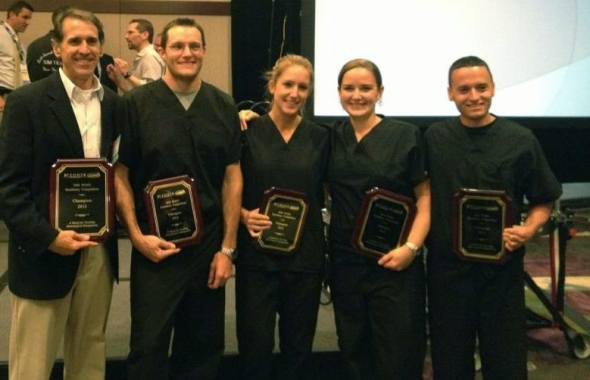 UF Jax Champs 2012 (left to right) David Caro, MD (Program Director); Brian Baird, MD; Tracy Graham, MD; Heidi Ashbaugh, MD; and Stephen MacDade, MD