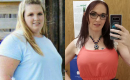 Christina Mandeville before and after visiting the UF Health Weight Loss Surgery Center
