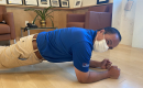 UF Health Shands CEO Ed Jimenez displays proper planking technique.