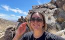 Gabby Carrara at the Grapevine Canyon Petroglyphs in Laughlin, Nevada, in May 2021.