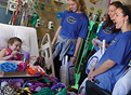 UF volleyball team visits hospital patients